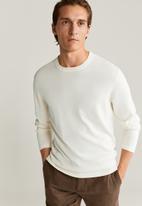 MANGO - Avena sweater - white