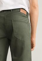 MANGO - Roller bermuda shorts - khaki