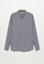 MANGO - Vichy shirt - navy & white