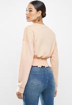 Missguided - Shirred hem oversized sweatshirt - neutral