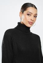 Missguided - Roll neck basic dress - black