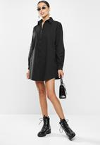 Missguided - Oversized shirt dress missguided - black