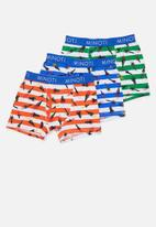 MINOTI - Boys 3 pack rocket boxers - multi