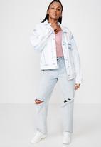 Factorie - Oversized denim jacket - light blue