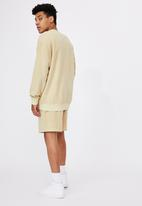 Factorie - Reverse fleece crew - washed sand