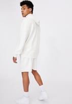 Factorie - Reverse fleece hoodie - white