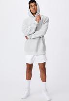 Factorie - Reverse fleece hoodie - washed grey