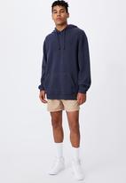 Factorie - Reverse fleece hoodie - navy