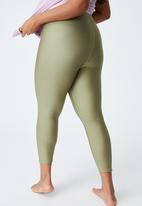 Cotton On - Curve active reversible 7/8 tights - green & blue