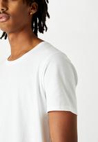 Factorie - Curved T-shirt - white
