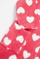 MINOTI - Cuddle robe - pink & white