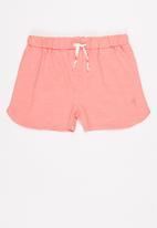 MINOTI - Girls pink basic slub short - pink