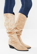 Z_Code_Z - Alma slouchy western boot - beige
