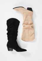 Z_Code_Z - Alma slouchy western boot - black