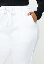 Missguided - Plus size 90's joggers - white