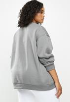 Missguided - Plus montana graphic stripe detail sweat - grey