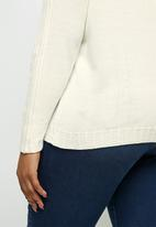 edit Plus - Detail rib sleeve jumper - milk