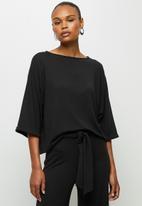 edit - Cosy knit boxy tee - black