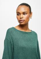 edit - Cosy knit boxy tee - green