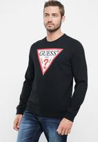 GUESS - Long sleeve guess core sweater - black