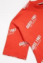 GUESS - Girls oversize short sleeve tee - red