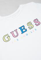 GUESS - Girls branded midi tee - white