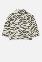 Cotton On - Ellen jacket - dark vanilla/marty zebra