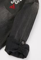 GUESS - Canvas adjustable shirt - dark grey