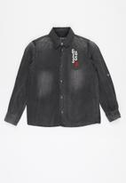 GUESS - Boys canvas adjustable shirt - dark grey