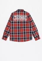 GUESS - Adjustable check shirt - red & navy