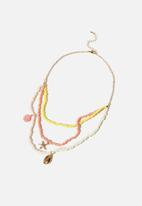 Cotton On - Kids fashion jewellery necklace - bright beachy