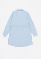 GUESS - Girls tencel twill adjustable dress - blue