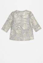 GUESS - Girls coated high low 3/4 tee - gold