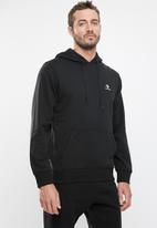 Converse - Star chevron french terry pullover hoodie - black