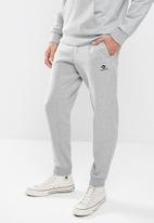 Converse - Converse embroidered star chevron fleece sweatpant - grey