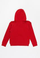 GUESS - Boys active hooded top - red