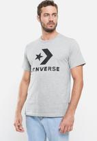 Converse - Star chevron short sleeve tee - grey