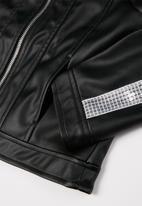 GUESS - Girls Guess pu leather jacket - black