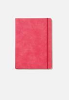 Typo - A4 buffalo journal - raspberry
