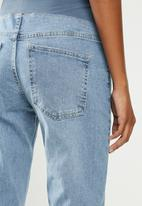 Cotton On - Maternity stretch mom jean (over belly) - blue
