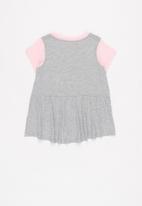 Converse - Cnvg star chev tunic capri set - grey & pink