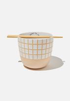 Typo - Feed me bowl - white grid