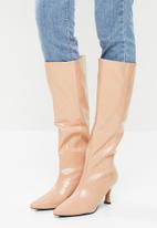Z_Code_Z - Abella knee boot - nude