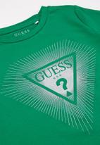GUESS - Girls diamond logo tee - green