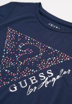 GUESS - Girls hi lo v tee - blue
