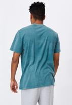 Factorie - Regular graphic t shirt - washed pine teal