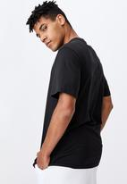 Factorie - Regular graphic t shirt - black