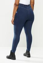 Missguided - Plus lawless high waisted super soft - deep blue