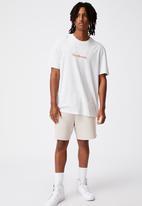 Factorie - Regular graphic t shirt - silver marle
