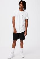 Factorie - Curved graphic T-shirt - white